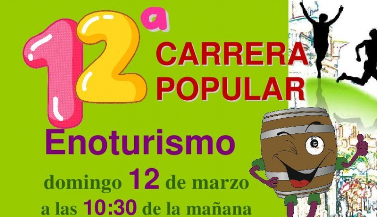 12ª CARRERA POPULAR DE ENOTURISMO EL 12 DE MARZO EN ALDEANUEVA DE EBRO