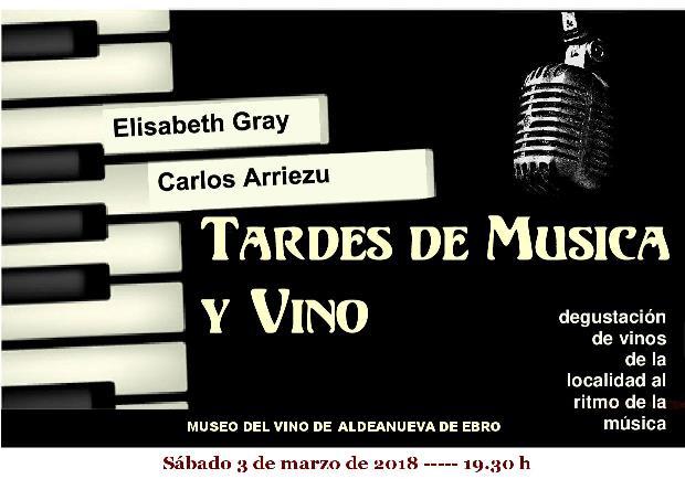 Música para disfrutar con ELISABETH GRAY Y CARLOS ARRIEZU , en el concierto del día 3 de marzo
